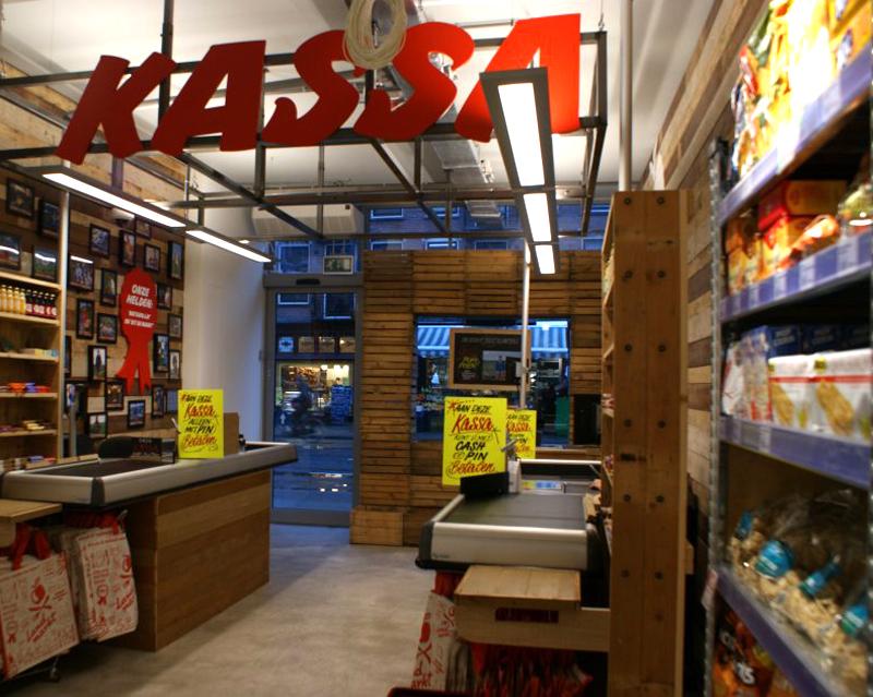 Interieurontwerp Landmarkt supermarkt Amsterdam